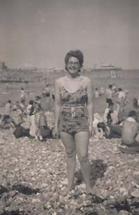 On Eastbourne Beach 1946