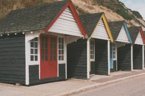 1930s beach huts at Bournemouth