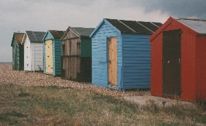 Beach huts at Hayling Island