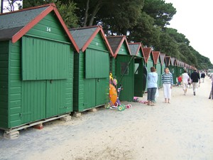 Beach huts for hire, Avon Beach