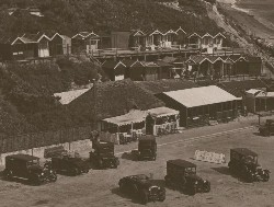 Beach huts at Branksome Chine, Bournemouth
