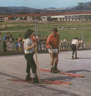 Dry ski slope at Butlin's, Minehead