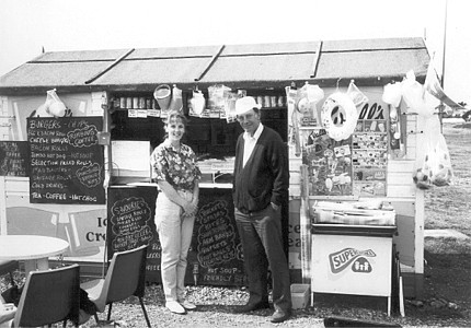 Ice cream stall at Hayling Island, 1995
