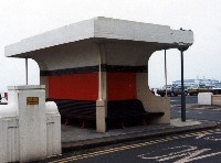 Concrete shelter at Hastings, designed by Sidney Little